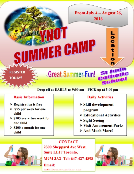 summer camp daily schedule